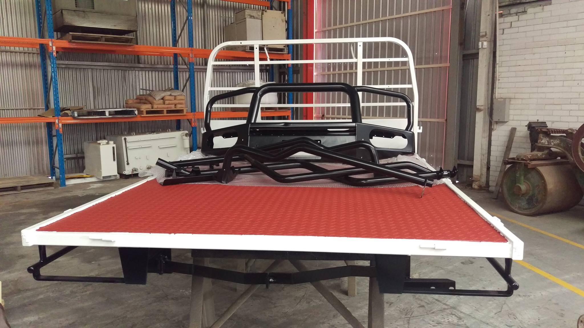 Blast & Powder Coated Vehicle Tray and parts Gnangara
