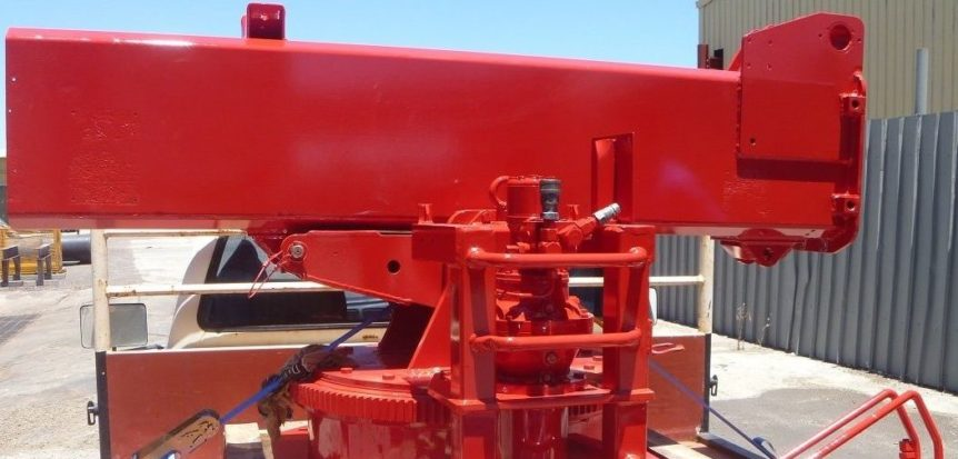 Machinery after blasting and protective coating
