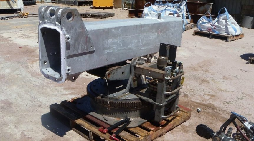 Machinery prior to Blasting, priming and protective coating