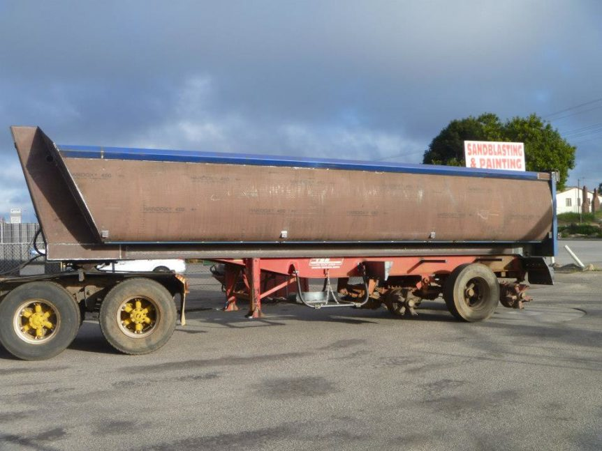 truck body prior to protective coating Absolute Blast in Landsdale