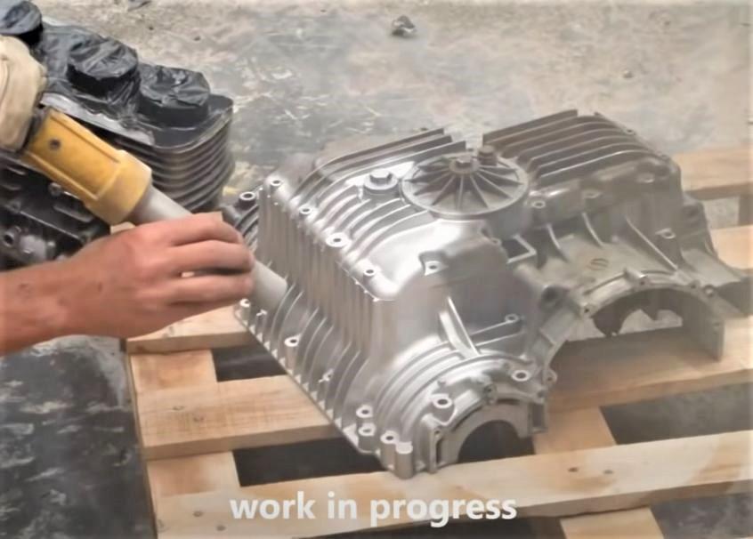 Motor Casing Glass Blasting