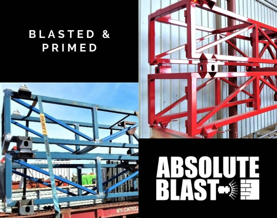 Before & After - Blasted & Primed at Absolute Blast Perth